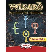 Ersatzblöcke für Wizard Kartenspiel (2 Stck)