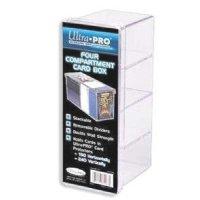 4-Compartment Card Box - Clear