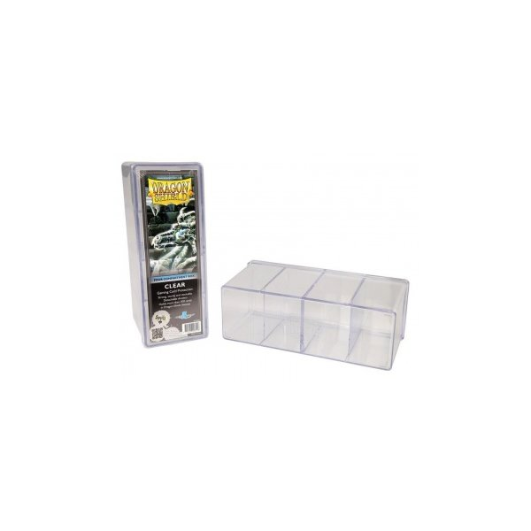 Dragon Shield: Gaming Box 4 Compartments ? Clear