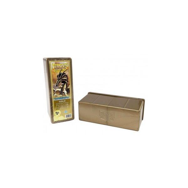 Dragon Shield: Gaming Box 4 Compartments ? Gold