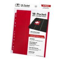 18-Pocket Side-Loading Supreme Pages Standard Size Red (10)
