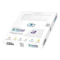 18-Pocket Side-Loading Supreme Pages Standard Size White...