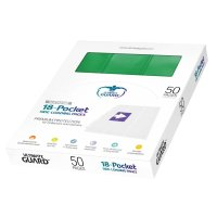 18-Pocket Side-Loading Supreme Pages Standard Size Green...
