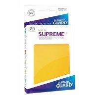 Supreme UX Sleeves Standard Size Matte Yellow (80)