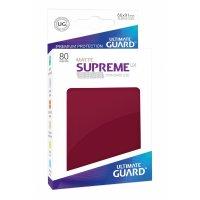 Supreme UX Sleeves Standard Size Matte Burgundy (80)
