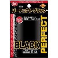 KMC Standard Sleeves - Perfect Black (80 Sleeves)