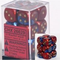 Chessex Gemini 16mm d6 with pips Dice Blocks (12 Dice) -...