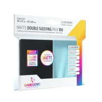 Matte Double Sleeving Pack (Clear/Black)