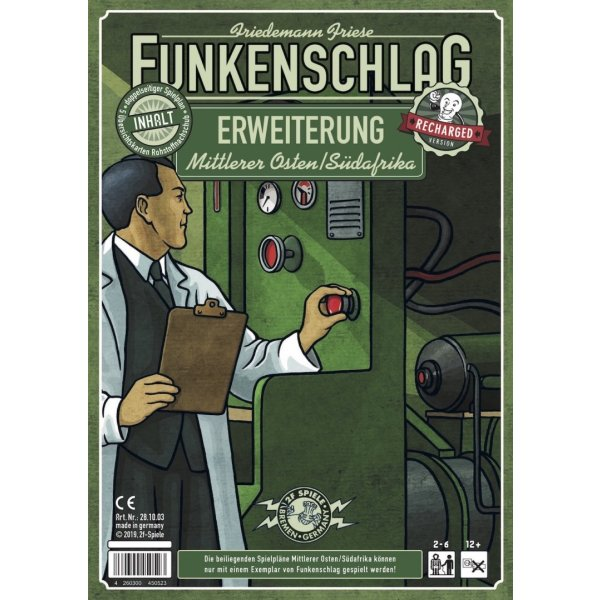 Funkenschlag Erw. 12 (Recharged Version): Mittlerer Osten/Südafrika