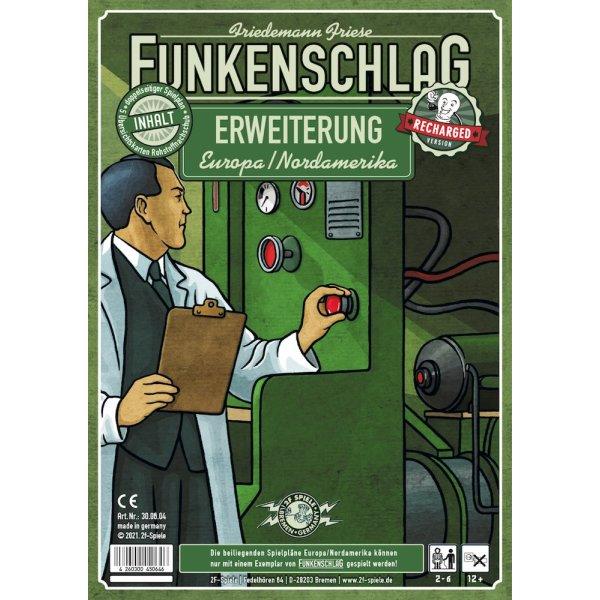 Funkenschlag Erw. 13 (Recharged Version): Europa/Nordamerika